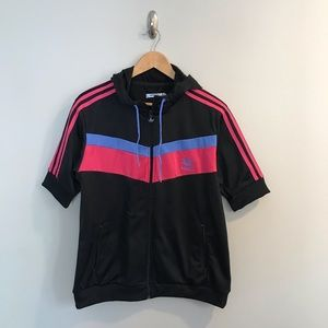NEW Adidas Originals Black Pink Chevron Jacket XL